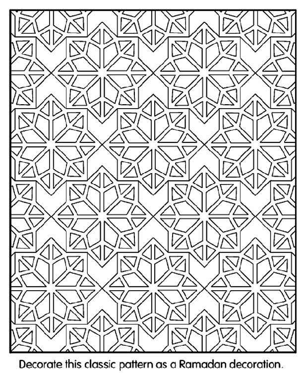 pattern coloring pages - islamic patterns coloring page