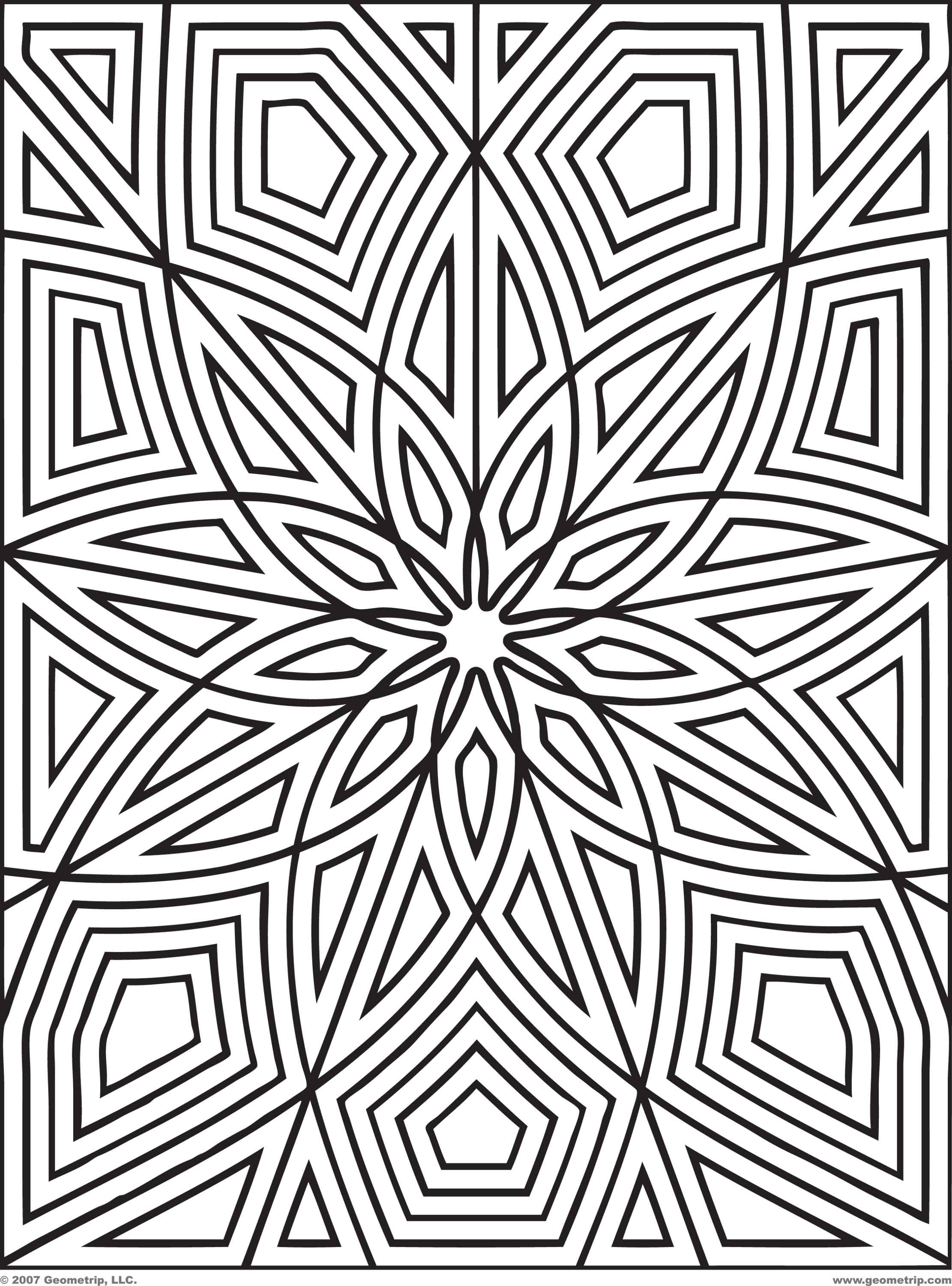 Pattern Coloring Pages - Pattern Coloring Pages for Adults Coloring Home