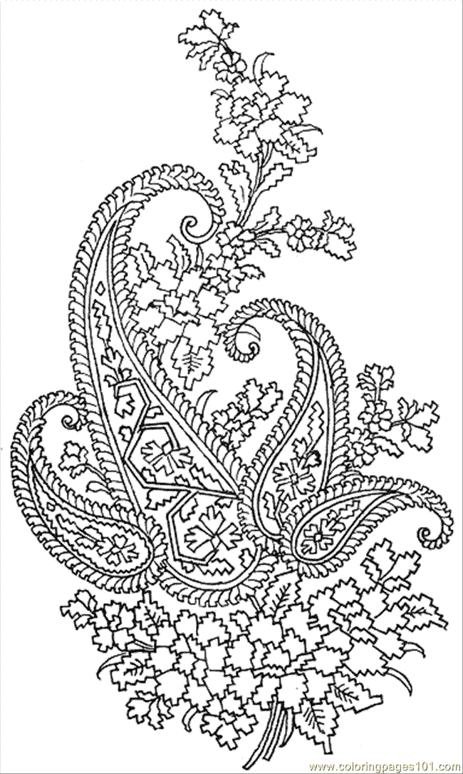 pattern coloring pages - Textile Pattern 023