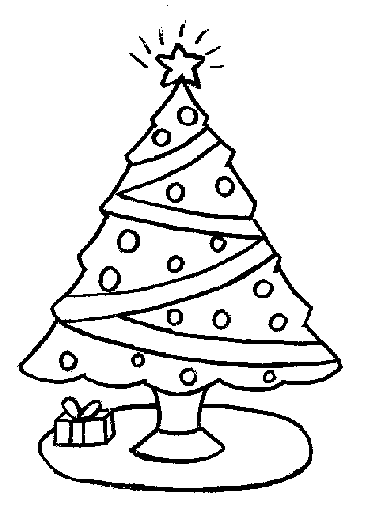 free coloring pages christmas tree print out coloring