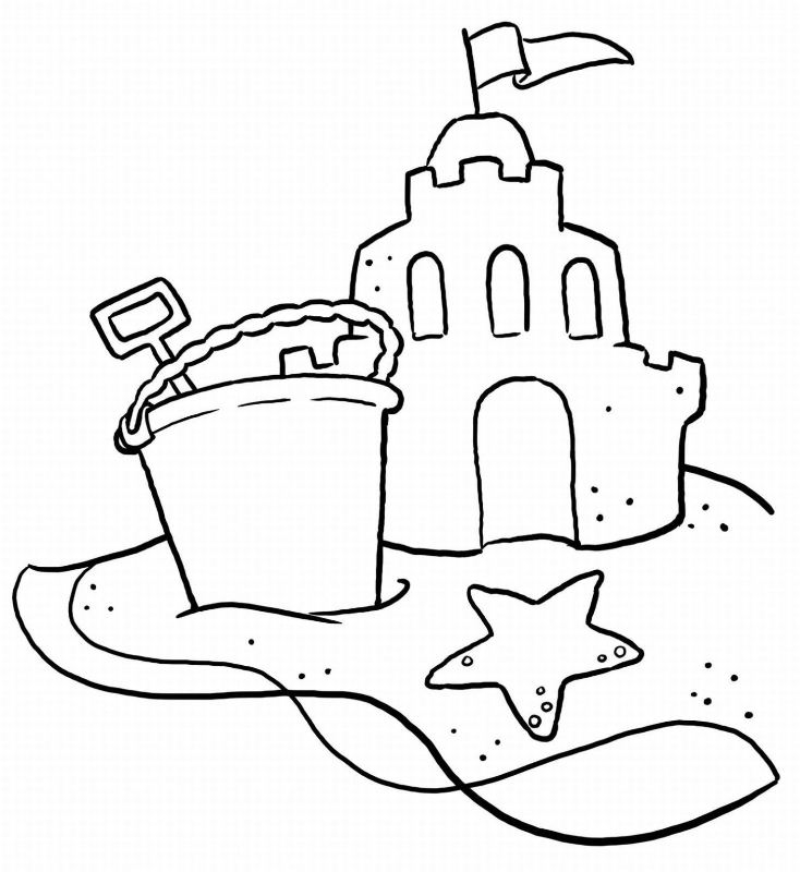 paw print coloring page - castle pictures for children