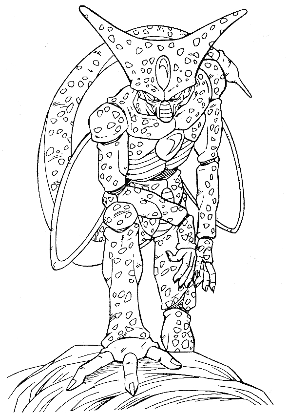 paw print coloring page - dbz cell coloring page