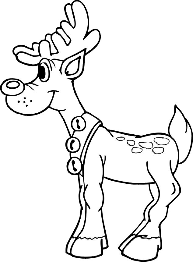 paw print coloring page - reindeer pictures for kids
