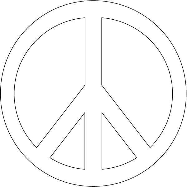 Peace Sign Coloring Pages - Coloring now Blog Archive Peace Sign Coloring Pages