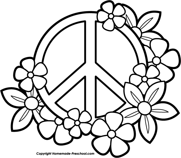 peace sign coloring pages - coloring peace sign design sketch templates