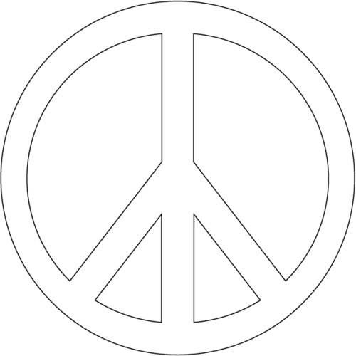 peace sign coloring pages - free printable peace sign coloring pages