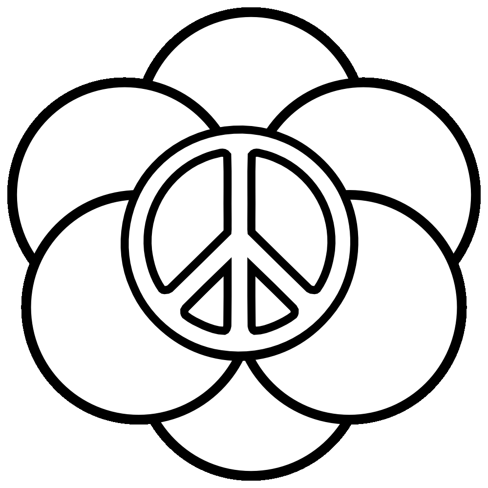 peace sign coloring pages - peace coloring pages 1 3