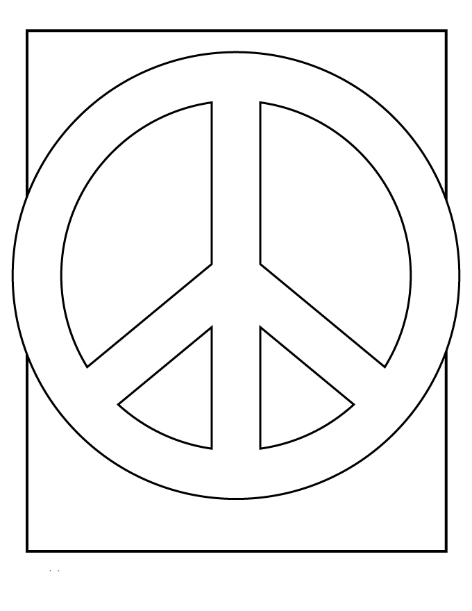 peace sign coloring pages - peace sign coloring pages