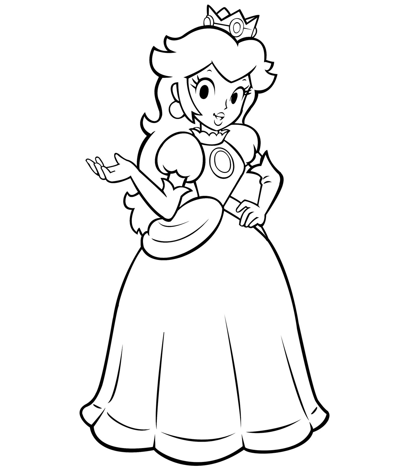 peach coloring pages - princess peach coloring pages