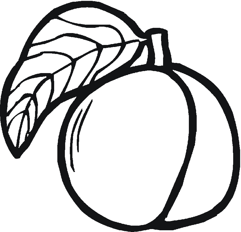 peach coloring pages - peach coloring page