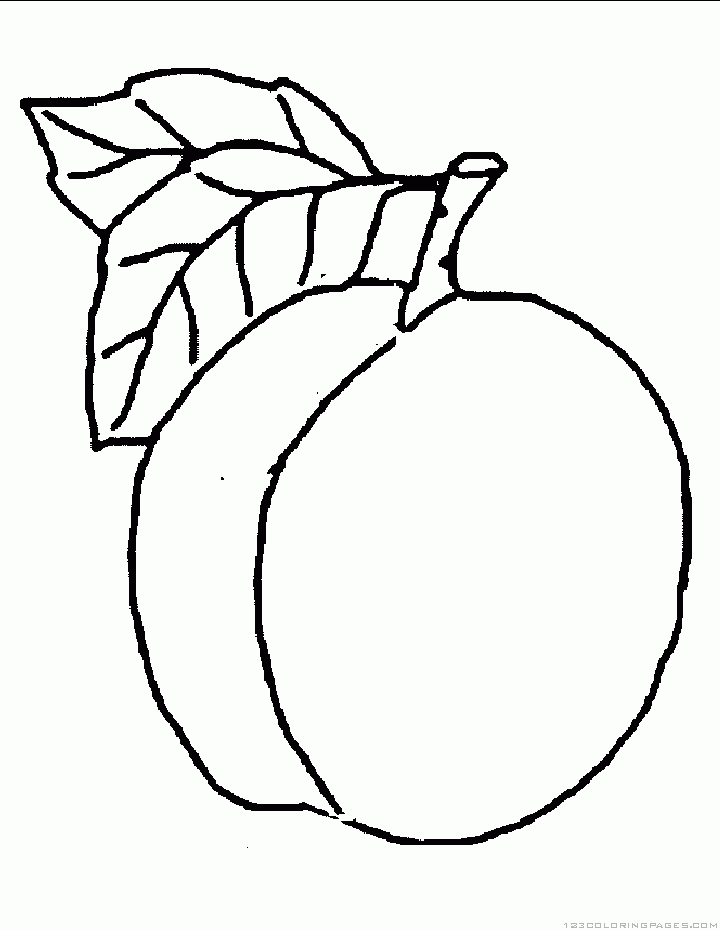 peach coloring pages - peach