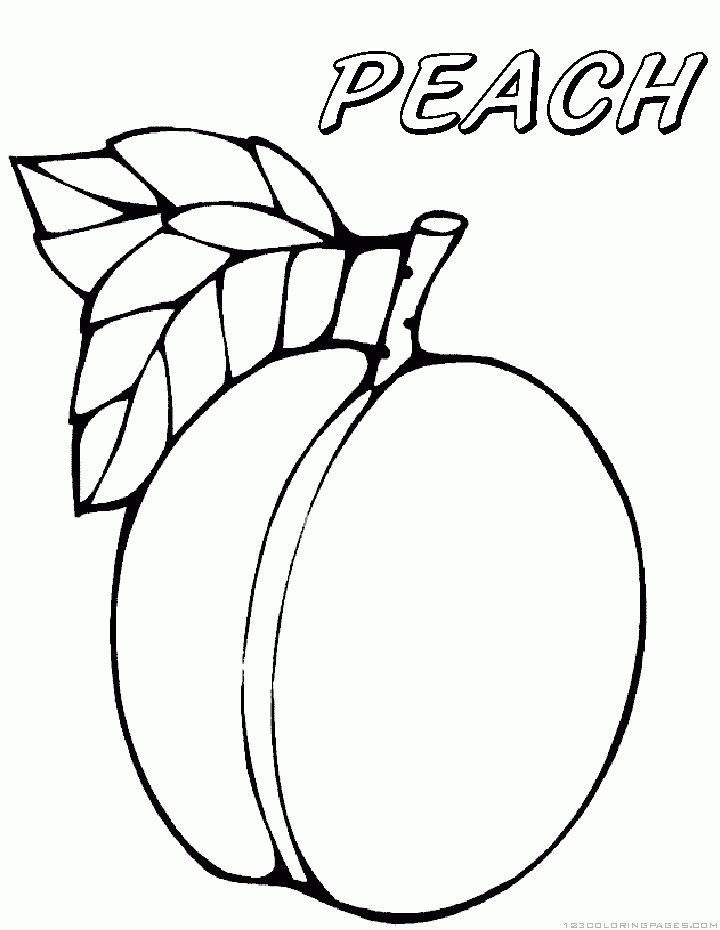 Peach Coloring Pages - Peach Coloring Pages