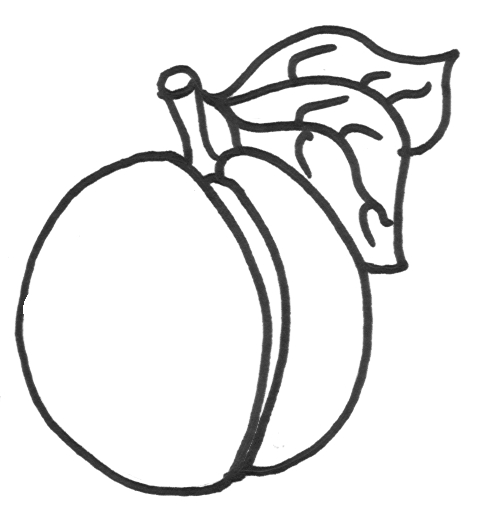 peach coloring pages - peaches coloring pages picture