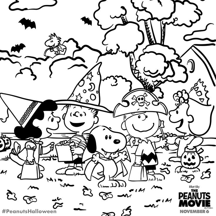 peanuts coloring pages - halloween