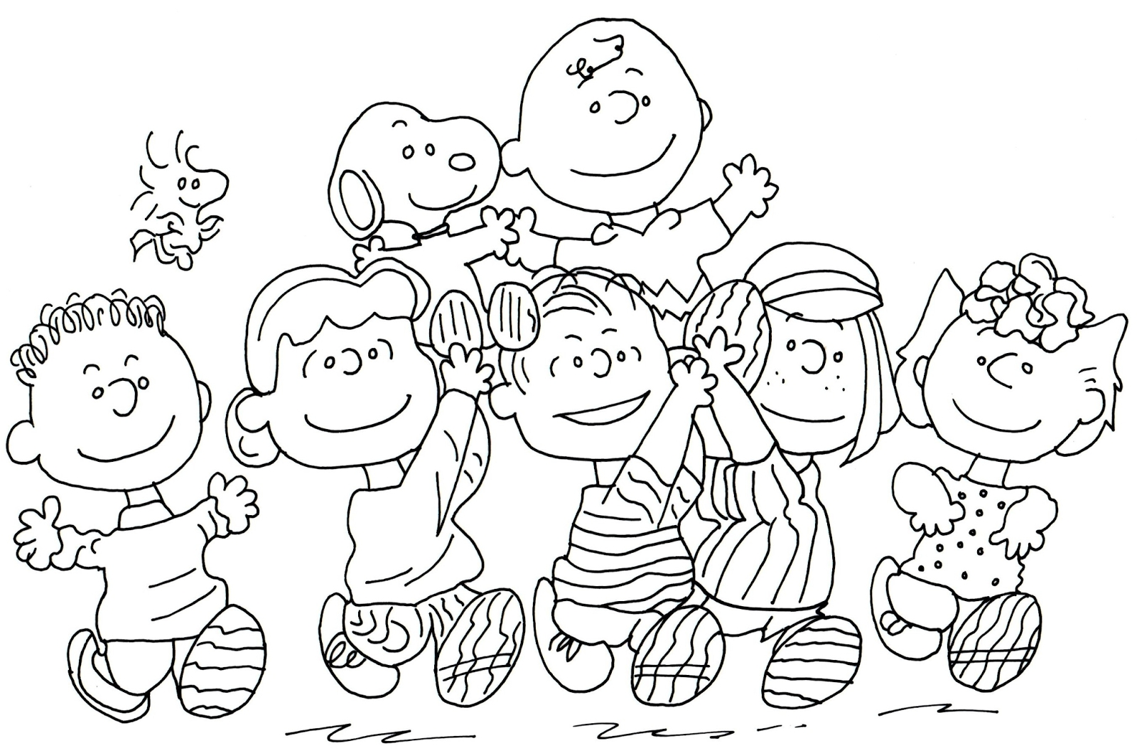 peanuts coloring pages - free printable coloring pages for whole