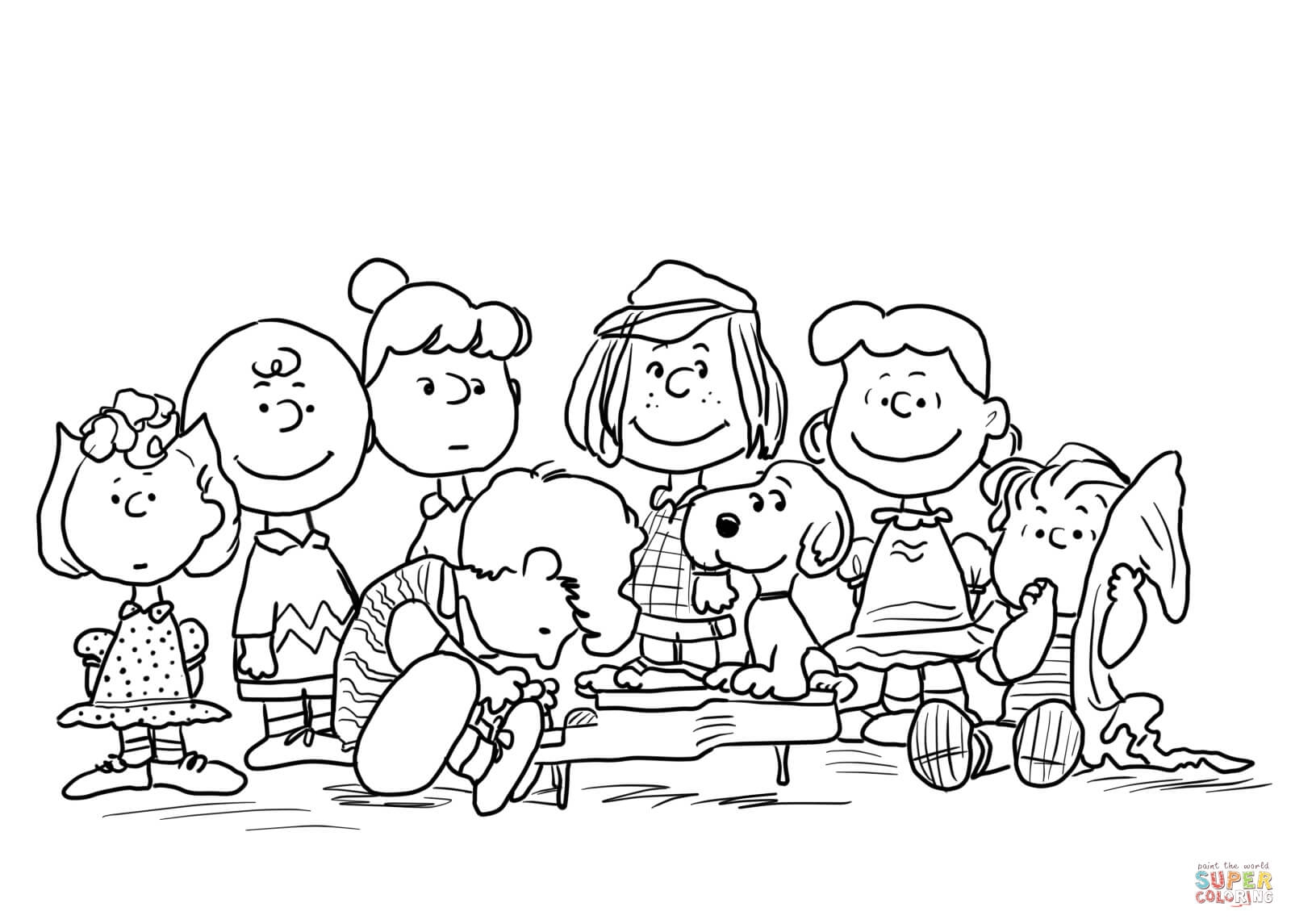 Peanuts Coloring Pages - Peanuts Characters Coloring Page