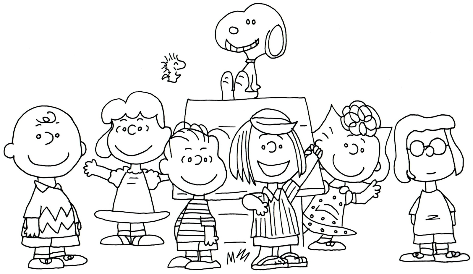 peanuts coloring pages - woodstock snoopy coloring pages