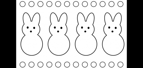 peeps coloring pages -