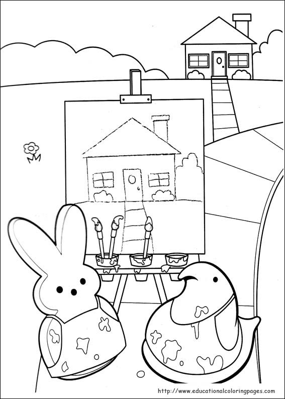 peeps coloring pages - peeps