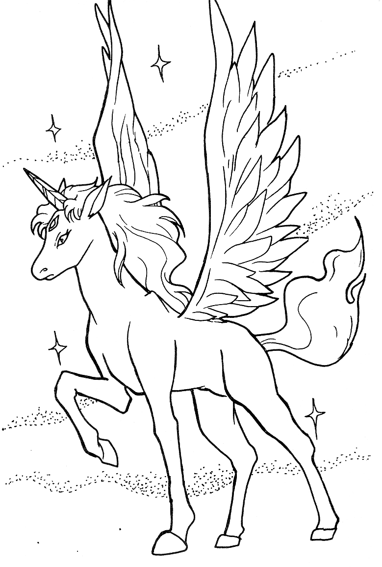 pegasus coloring pages - r=baby pegasus unicorn
