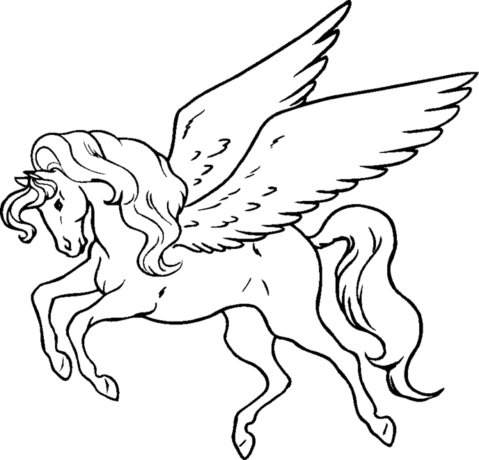 pegasus coloring pages - pegasus coloring pages
