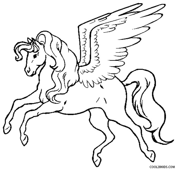 Pegasus Coloring Pages - Printable Pegasus Coloring Pages for Kids
