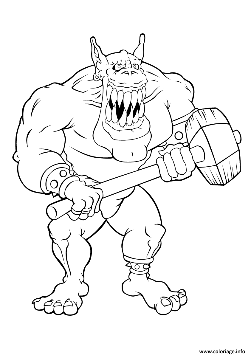 pennywise coloring pages - geant ogre mechant coloriage