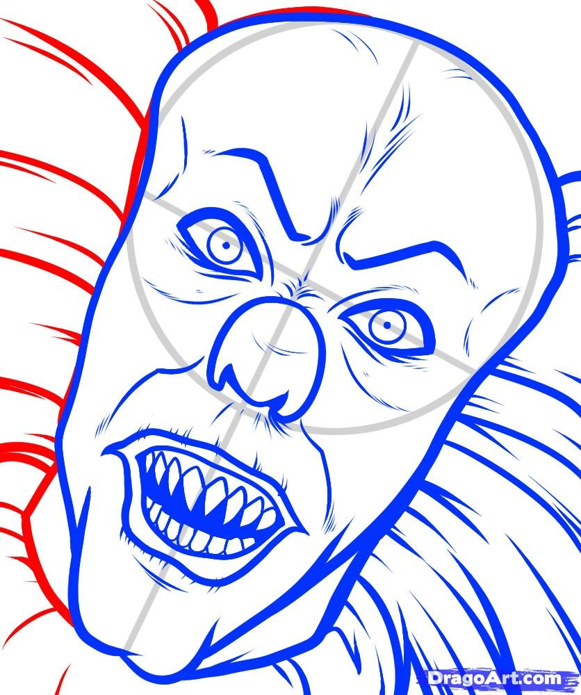 pennywise coloring pages - how to draw pennywise pennywise pennywise the clown