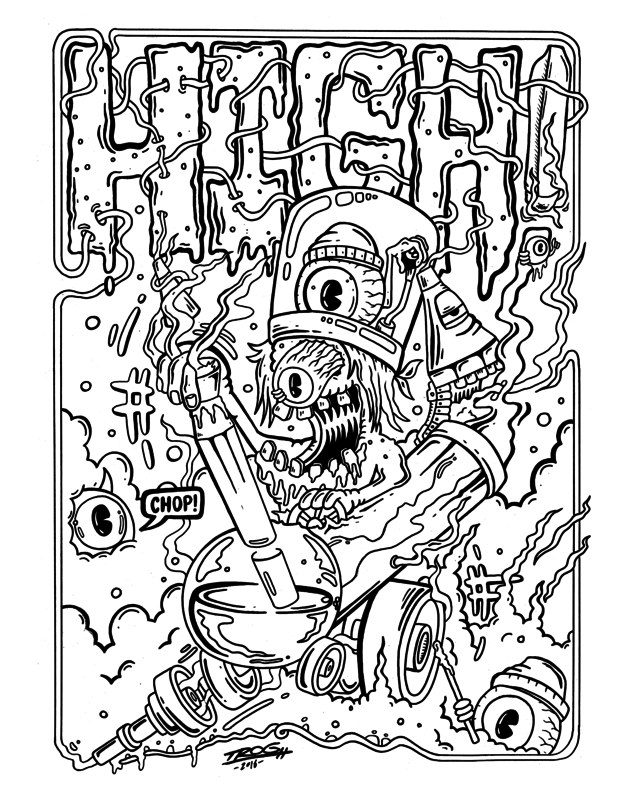 pennywise coloring pages - the killer weed coloring book for adults trog interview