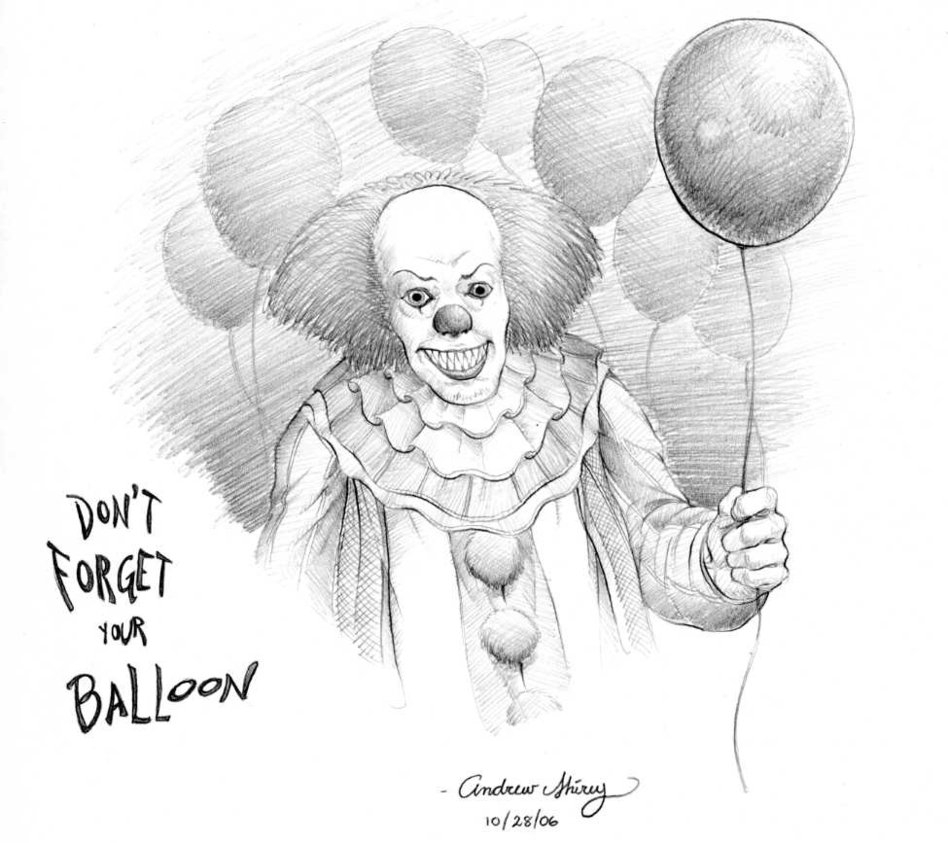 pennywise coloring pages - Pennywise