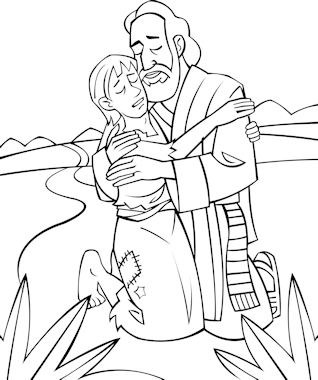 pentecost coloring page - the parable of the lost son