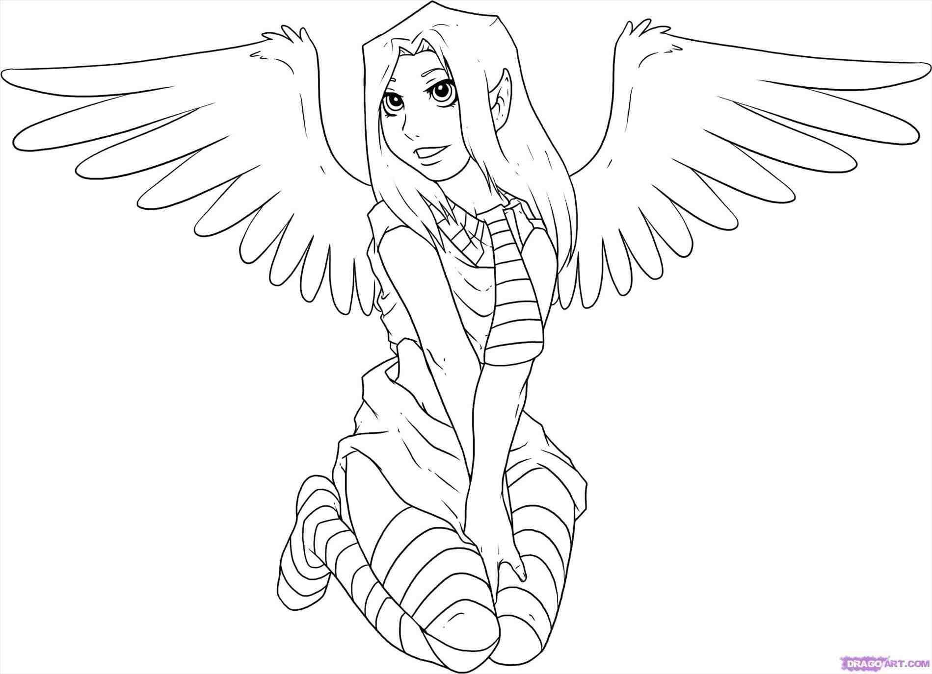 people coloring pages - christmas angel drawings