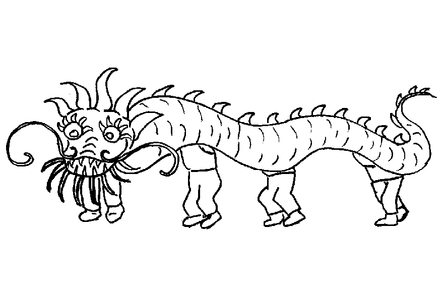 people coloring pages - drakendanstml