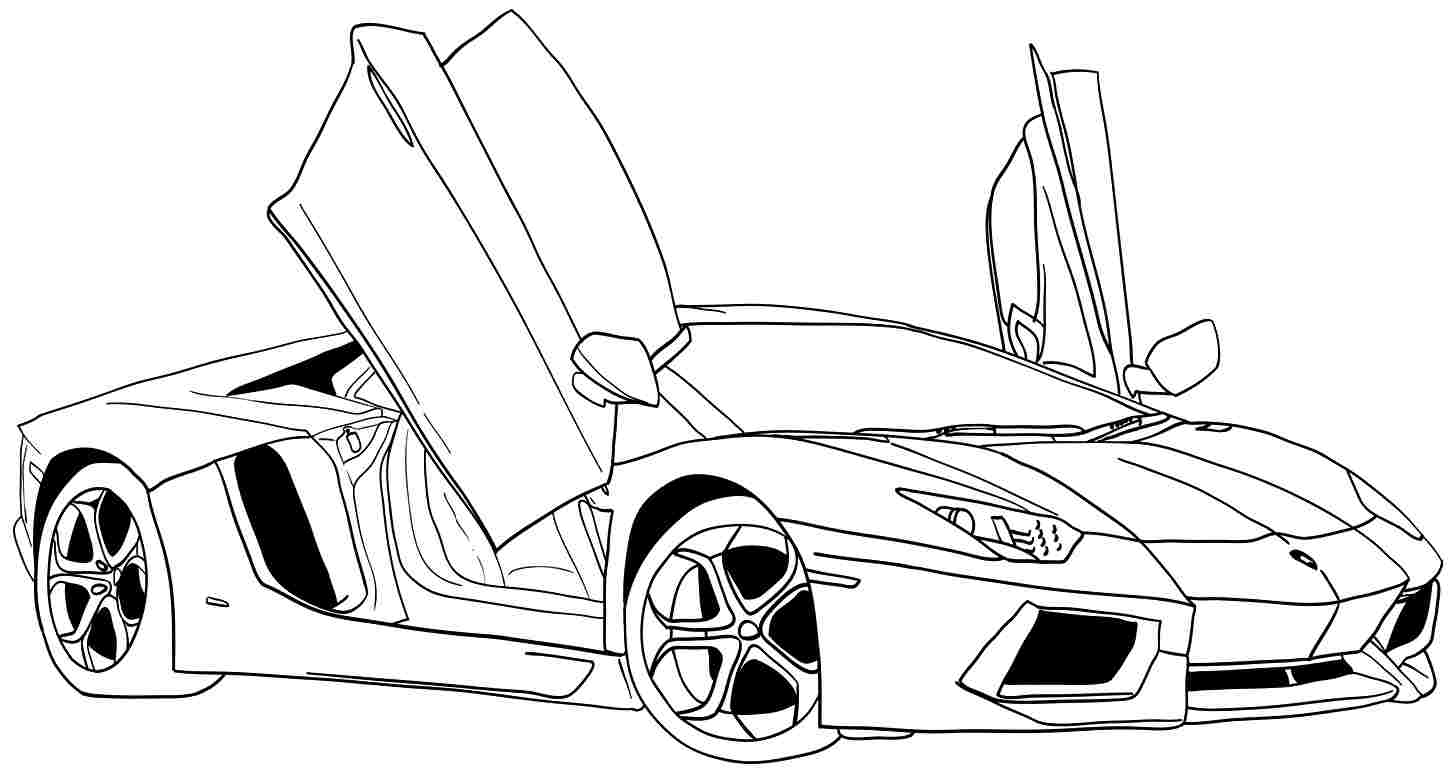 people coloring pages - sports car coloring pages