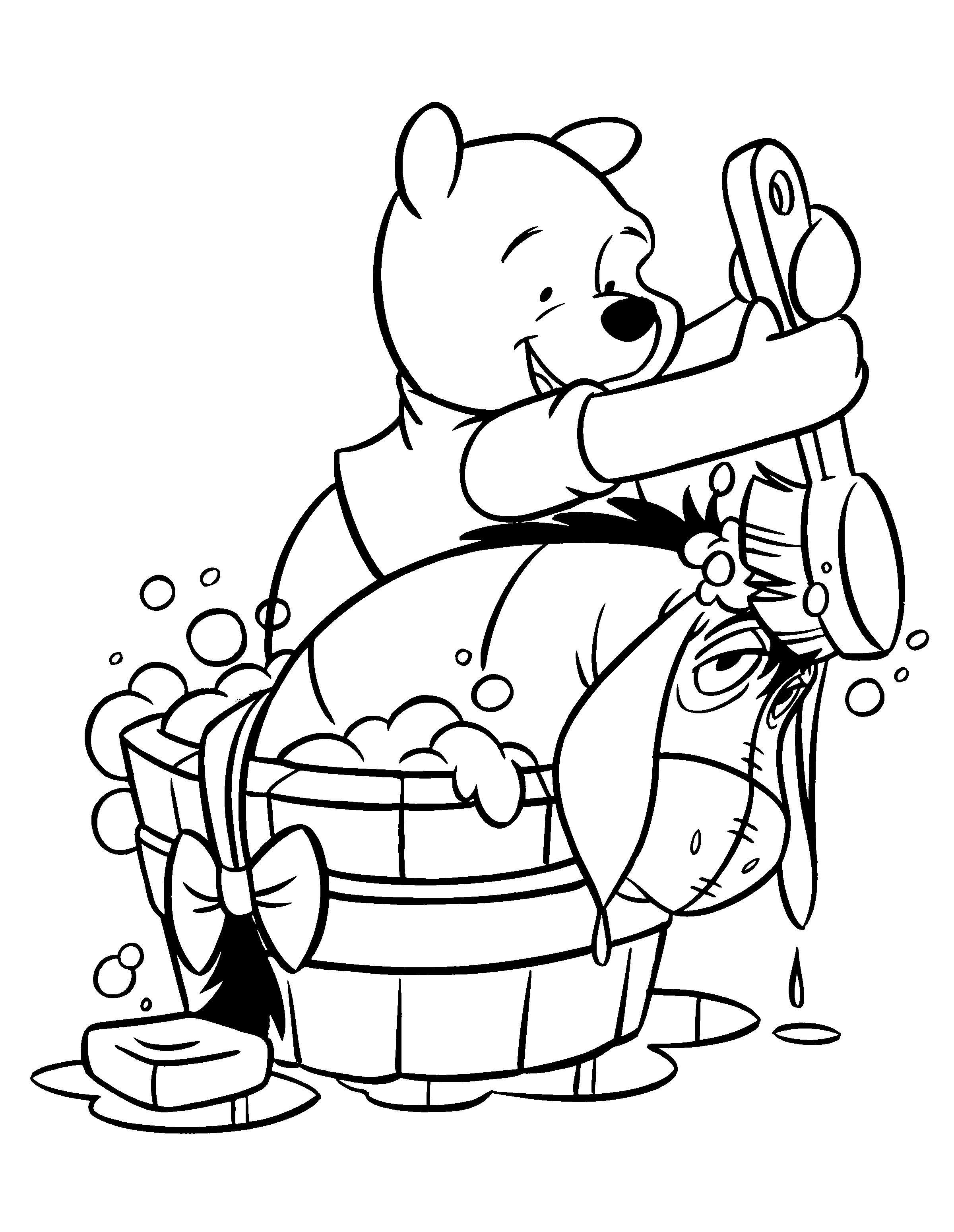 people coloring pages - winnie the pooh coloring pages