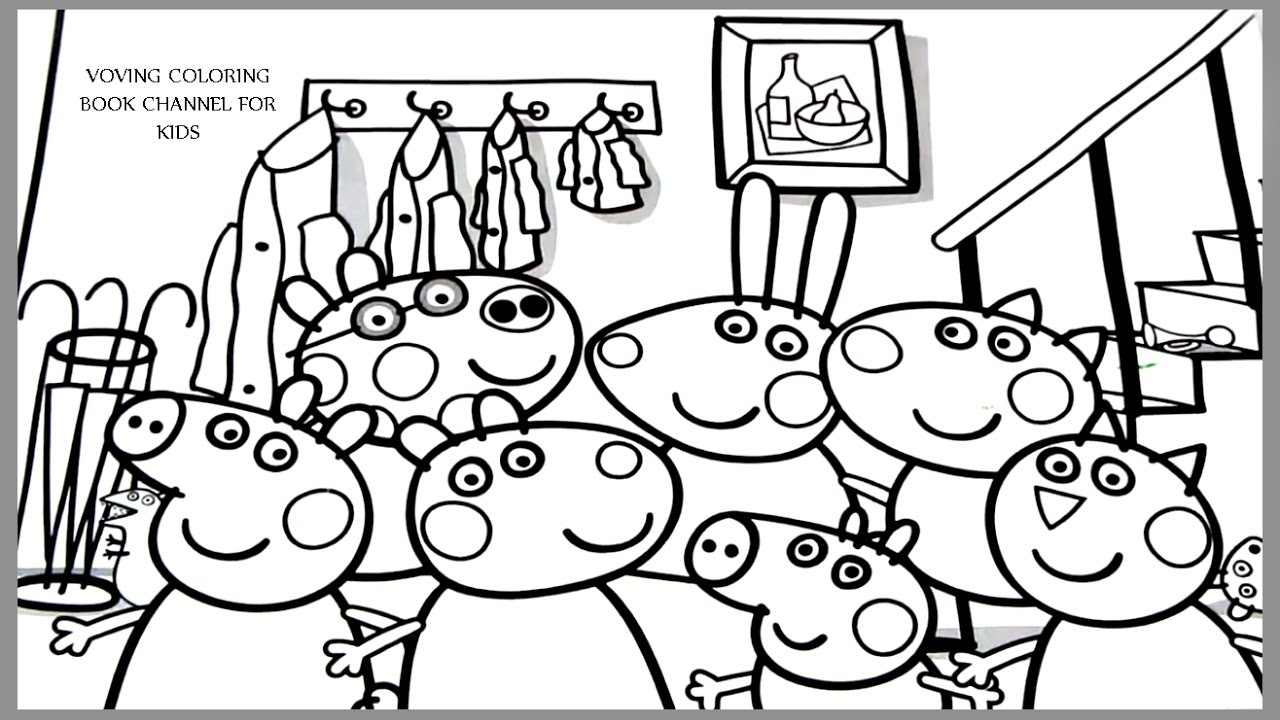 peppa coloring pages - watch v=Pwqjxwnni0k