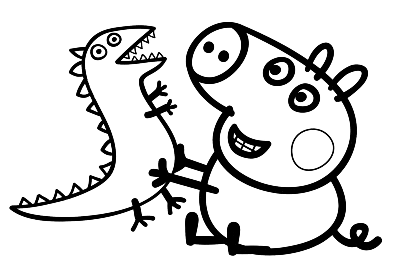 peppa pig coloring pages - q=peppa and george
