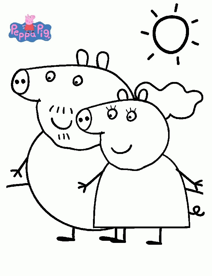 peppa pig coloring pages - peppa pig coloring pages
