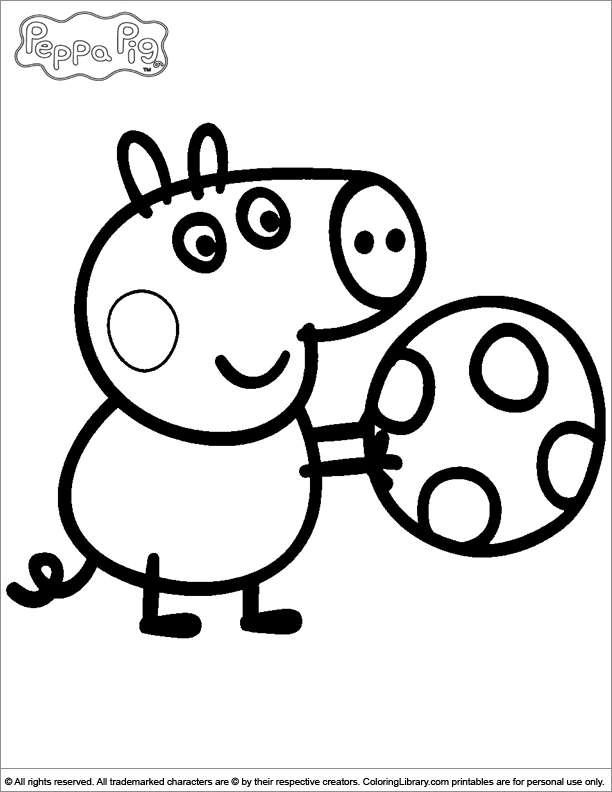 peppa pig coloring pages - page 1690