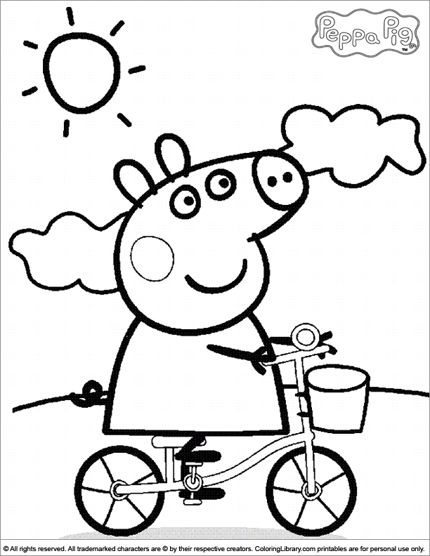 peppa pig coloring pages - page 1700