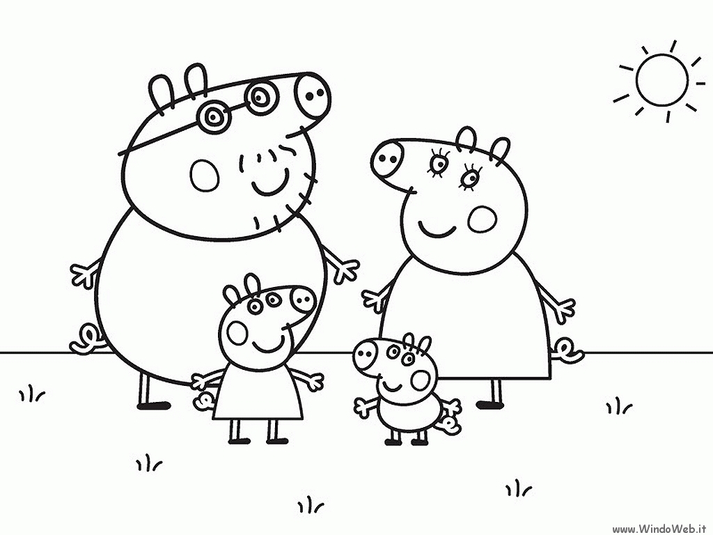 peppa pig printable coloring pages - peppa pig daddy pig coloring pages