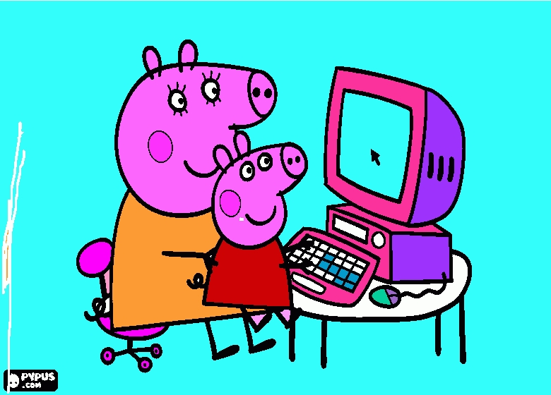 peppa pig printable coloring pages - coloring page peppa pig drawing