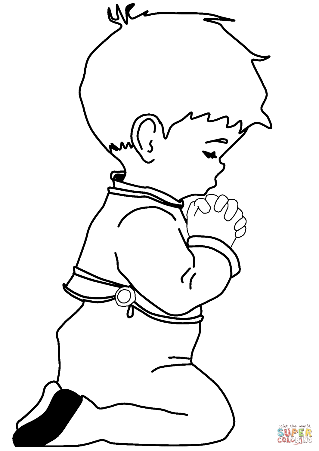 person coloring page - nino orando 0