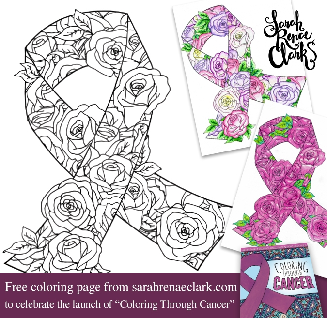 personalized coloring pages - awareness ribbon free coloring page