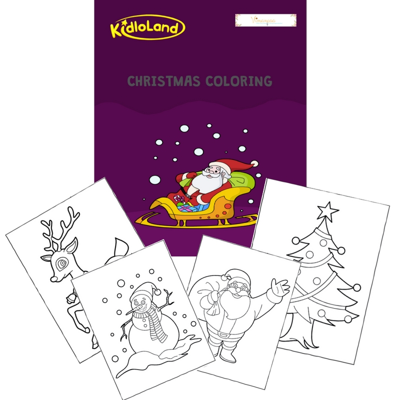 personalized coloring pages - free christmas coloring printable pages