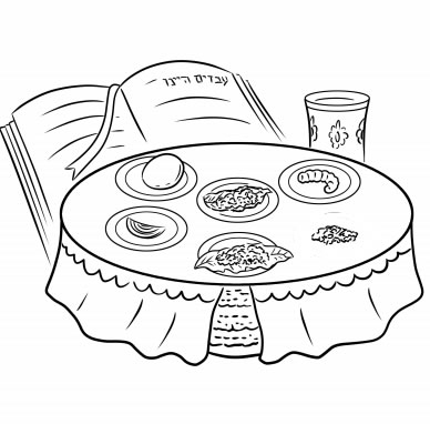 pesach coloring pages - 12 Page New Passover Coloring Book