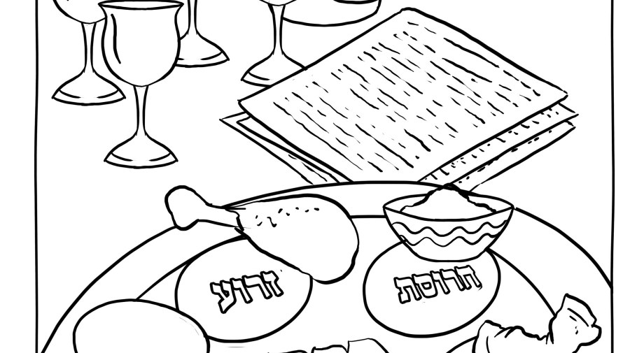 pesach coloring pages - coloring pages for passover