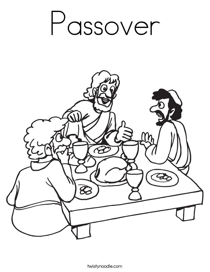 pesach coloring pages - passover coloring page