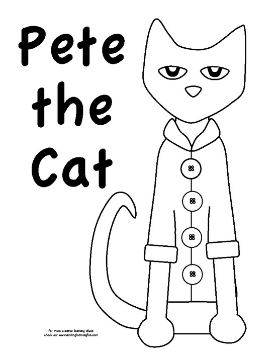 Pete the Cat Coloring Page - Pete the Cat Coloring Page Preschool