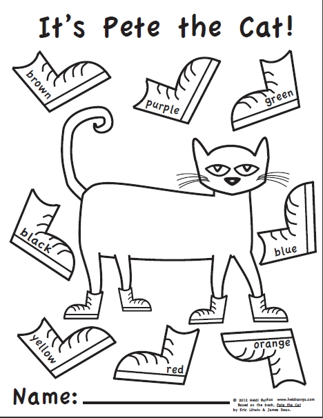 graphic relating to Pete the Cat Printable Template titled 25 Pete the Cat Coloring Website page Printable No cost COLORING